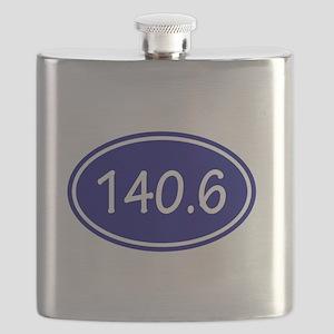 Blue 140.6 Oval Flask