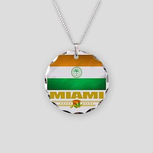 Miami (Flag 10) Necklace Circle Charm