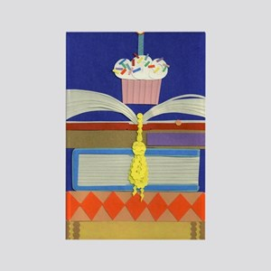 moms birthday library 020711 2 Rectangle Magnet