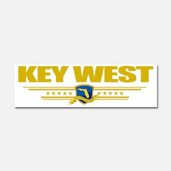 Key West (Flag 10) pocket Car Magnet 10 x 3