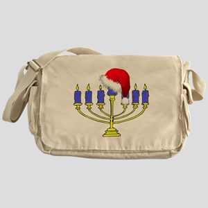 Christmas Menorah Messenger Bag