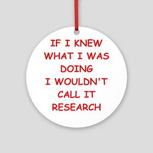 research Ornament (Round)