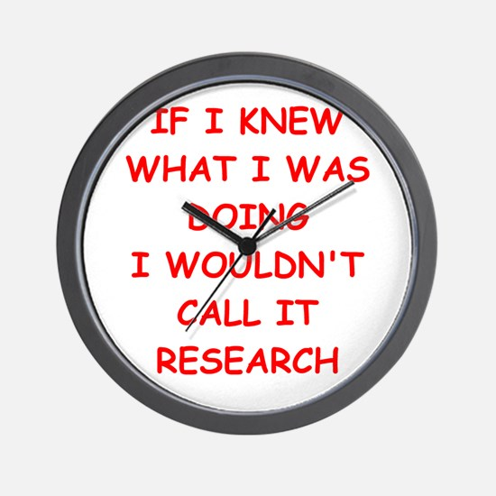 research Wall Clock