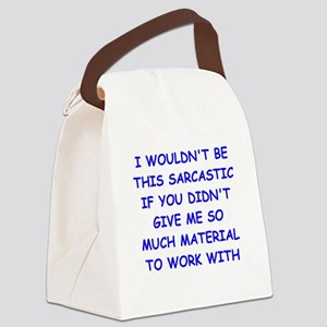 sarcastic Canvas Lunch Bag