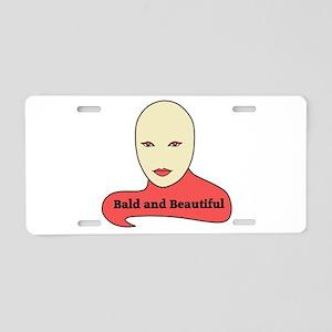 Bald and Beautiful v1.1 Aluminum License Plate