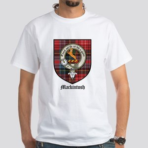 Mackintosh Clan Crest Tartan White T-Shirt