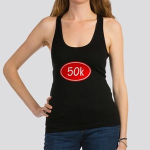 Red 50k Oval Racerback Tank Top