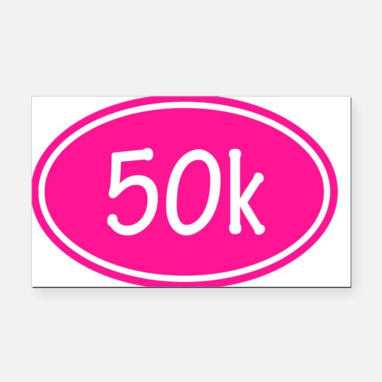 Pink 50k Oval Rectangle Car Magnet