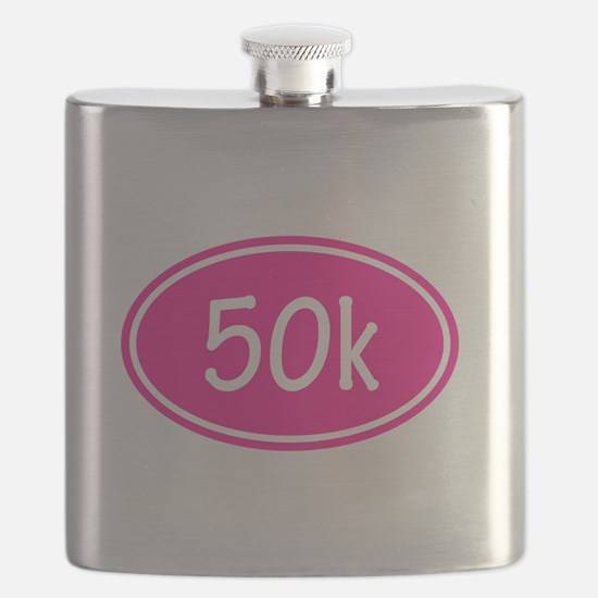 Pink 50k Oval Flask