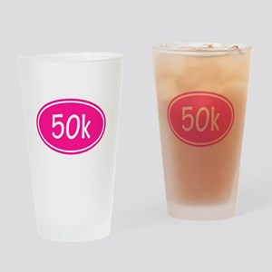 Pink 50k Oval Drinking Glass
