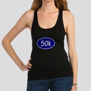 Blue 50k Oval Racerback Tank Top