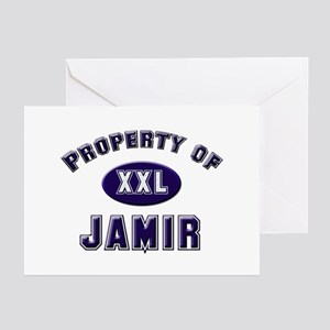 Property of jamir Greeting Cards (Pk of 10)
