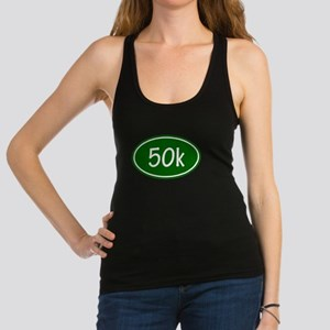 Green 50k Oval Racerback Tank Top