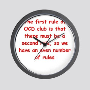 ocd Wall Clock