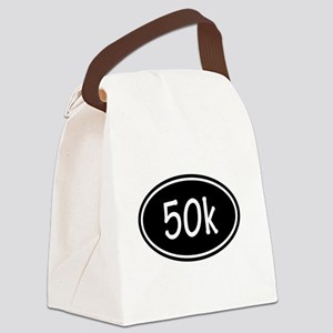 Black 50k Oval Canvas Lunch Bag