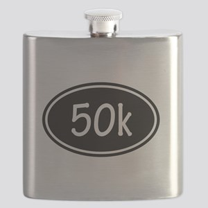 Black 50k Oval Flask