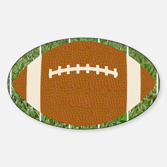 Football Rectangular Magnet Sticker (Oval)