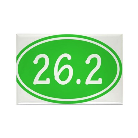 Lime 26.2 Oval Magnets