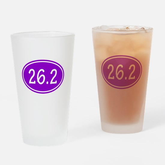 Purple 26.2 Oval Drinking Glass
