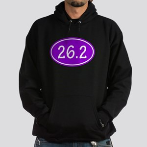 Purple 26.2 Oval Hoodie