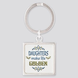 DAUGHTER Square Keychain