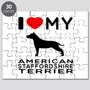 I Love My American Staffordshire Terrier Puzzle