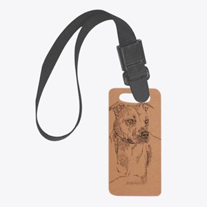 Pit_Bull_Terrier_KlineSq Small Luggage Tag