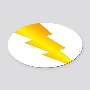 Lightning Bolt Oval Car Magnet
