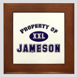 Property of jameson Framed Tile