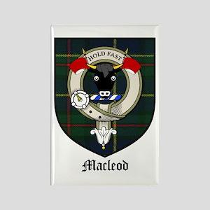 Macleod Clan Crest Tartan Rectangle Magnet (10 pac