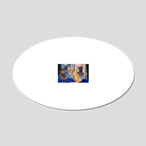 1-23x35 poster prints 20x12 Oval Wall Decal