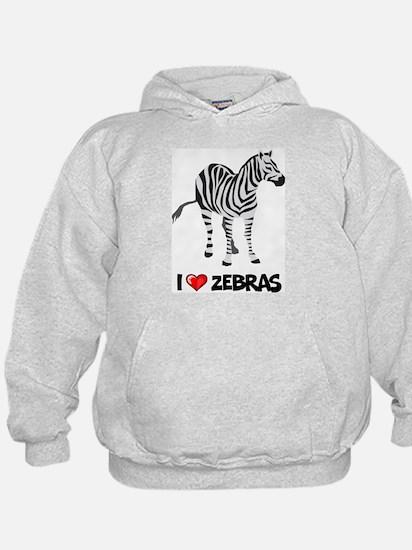 I Love Zebras Hoody