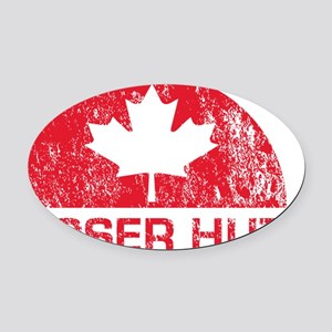Hoser Hut_shirt_red Oval Car Magnet