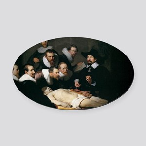 Anatomy Lecture of Dr Nicolaes Tul Oval Car Magnet