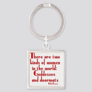 goddesses-and-doormats Square Keychain