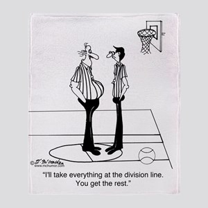5364_referee_cartoon Throw Blanket
