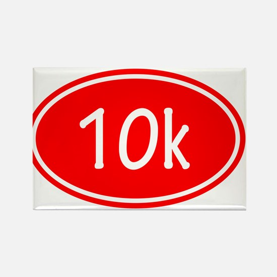 Red 10k Oval Magnets