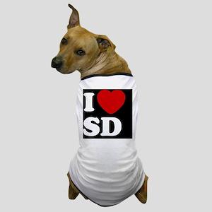 I Heart SD blackt Dog T-Shirt