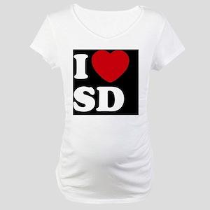 I Heart SD blackt Maternity T-Shirt
