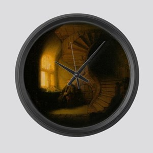 Philosopher in Meditation Large Wall Clock