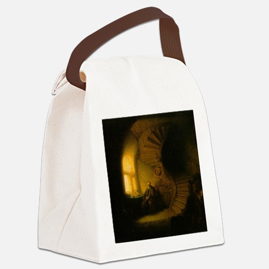 Philosopher in Meditation Canvas Lunch Bag