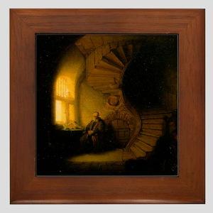 Philosopher in Meditation Framed Tile