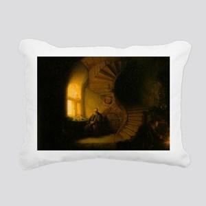 Philosopher in Meditatio Rectangular Canvas Pillow
