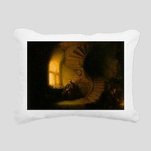 Philosopher in Meditatio Rectangular Canvas Pillow