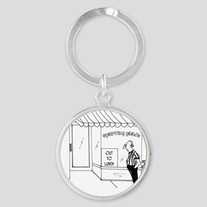5285_coach_cartoon Round Keychain