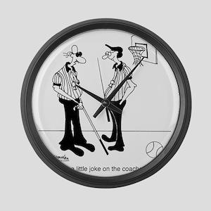 6671_referee_cartoon Large Wall Clock
