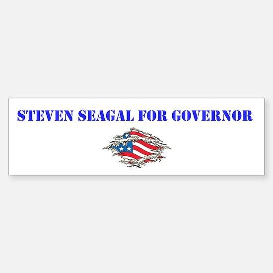 Steven Seagal For Governor Sticker (Bumper)