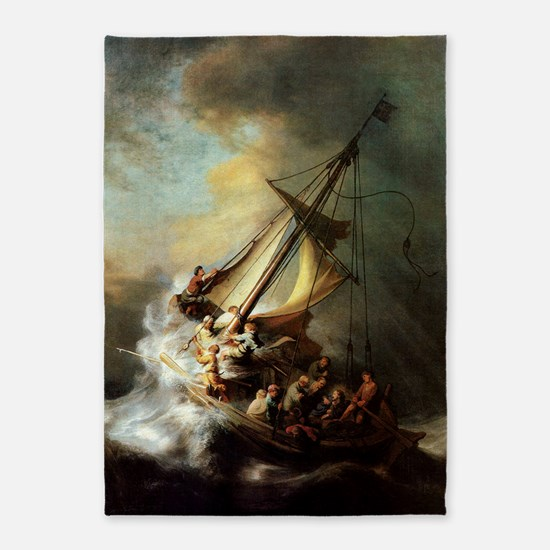 Storm on the Sea of Galilee 5'x7'Area Rug