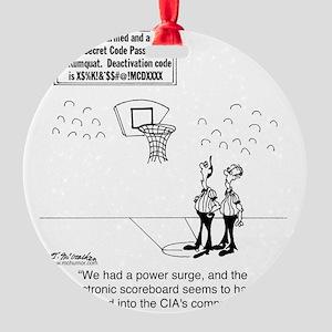 6625_basketball_cartoon Round Ornament