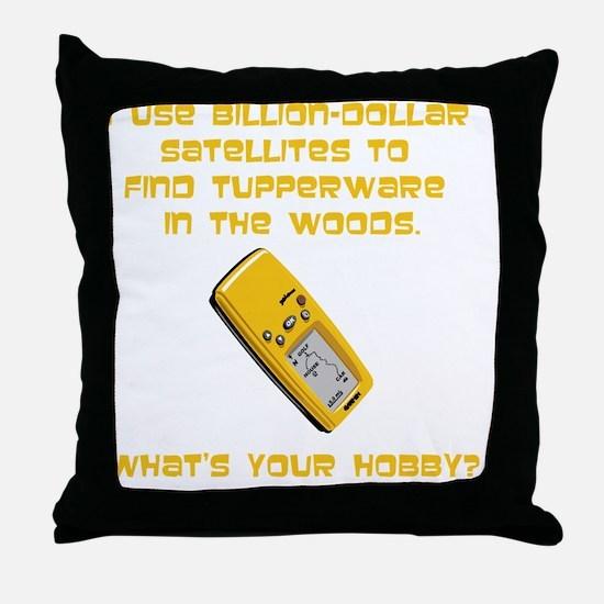 GeoCache Tupperware Yellow Throw Pillow